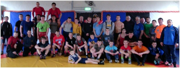 Older group at Wrestling Camp
