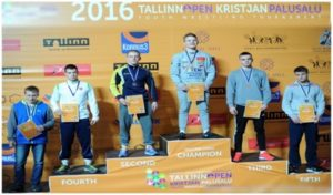 Champions of Greco-Roman 76kg Cadets on the Podium